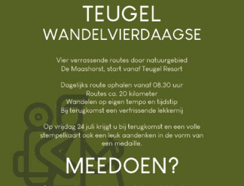 Superleuk initiatief van Teugel Resort Uden; de Teugel Wandelvierdaagse